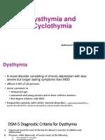 Dysthymia and Cyclothymia
