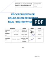 PRO II SSA 23 Colocación de Slurry Seal Micropavimentacion