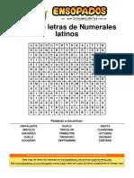 Sopa de Letras de Numerales Latinos (1)