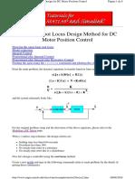 3_Root Locus Design Method for DC Motor Position Control