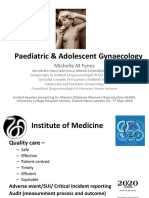 Paediatric & Adolescent Gynaecology