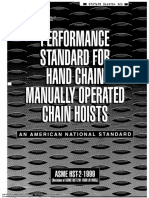 ASME HST - Perfomance Standard for Hand Chain Manually Operated Chain Hoists - 1999.pdf