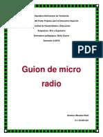 Guion de Micro Radio (Individual y Grupal)