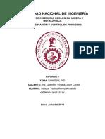 Informe 1 Instrumentación y Control de Procesos