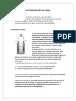 Electrodeposicion Del Plomo Objetivos