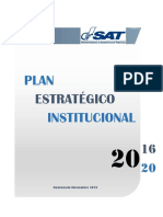 Plan Estrategico Institucional 2016-2020