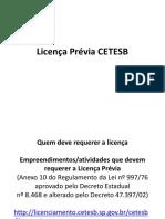 Licença Prévia Cetesb-mce