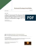 A Black Community Development Model_ the Universal Negro Improvem