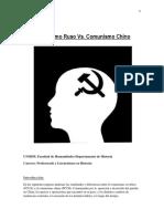 Comunismo Ruso vs. Comunismo Chino