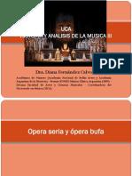 Opera Seria y Opera Bufa