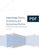 Assemblage Theory, Complexity and contentious politics - the political ontology of Gilles Deleuze