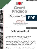 Performance Sheet Guide
