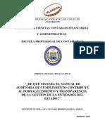 ¿de Qué Manera El Manual de Auditoría de Cumplimiento Contribuye Al Fortalecimiento y Transparencia de La Gestión de La Entidades Del Estado