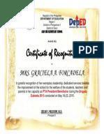 Certificate Brigada