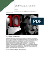 Noam Chomsky y las 10 Estrategias de Manipulación Mediática
