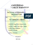 Derecho Laboral Medalith Gisell Paucar Zeballos Arq Gestion