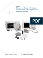 Agilent Solutions for Measuring Permittivity and Permeability With CR Meters and Impedance Alyzers