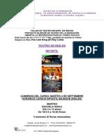 TEATRO DE LA SENSACIÓN-Inscripción Taller Teatro Infantil en Ingles 2018-019 Con Ficha de Inscripcion Doc