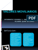 valores moviliarios