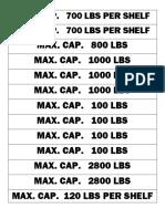 Capacity Label Portrait