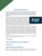 TITULO Ley General de Trabajo