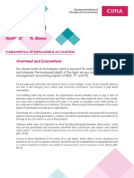 Cost Management Accounting, Overhead by CIMA