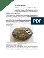 Texturas Rocas Sedimentarias