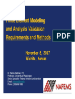 FEA Validation Requiremnents and Methods Final - NAFEMS Wichita