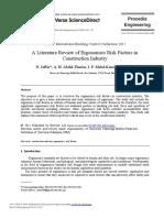 A Literature Review of Ergonomics Risk Factors in Const 2011 Procedia Engine