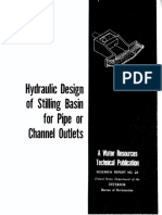 HYDRAULIC DESIGN OF STILING BASIN FOR PIPE OR CHANNEL OUTLETS
