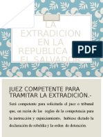 La Extradicion en La Republica de El Salvador