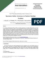 Spectators Safety Awareness in Outdoor Stadium Facil 2011 Procedia Engineeri