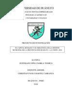 MUNICIPAL DE LA PROVINCIA DOS DE MAYO – LA UNIÓN -2018