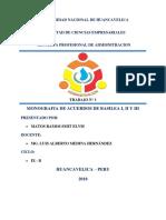ACUERDOS DE BASILEA I, II Y III - TRABAJO MONOGRÁFICO