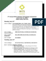 WITS 2008 - Final Agenda