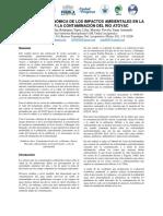 Valoración Economica de Los Impactos Ambientales en La Salud Por La Contaminación Del Rio Atoyac