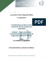Unidad 1. Marco Normativo Constitucional de Los Cuerpos de Seguridad Pública en Mexico