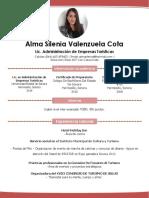 Curriculum Alma Silenia Valenzuela Cota