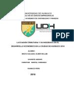Evasión de impuestos y su incidencia en el desarrollo económico de la ciudad de Huánuco
