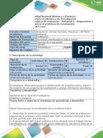 Guía de Actividades y Rúbrica de Evaluación - Actividad 3-Diagnosticar y Caracterizar El Problema de Investigación