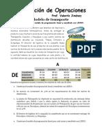 Ejercicio 14 Investigación de Operaciones Ok Transporte