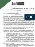 Resolucion 1449 de 06 de Julio de 2018