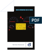 DRIVER  INFORMATION DISPLAY  MANUAL - VOLVO
