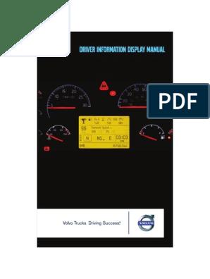 DRIVER INFORMATION DISPLAY MANUAL - VOLVO | Transmission