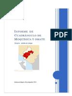 Informe Del Cuadrangulo de Moquegua y Omate