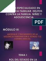 Guia MÓdulo 3 - Abordaje y Tratamiento de La Violencia Familiar Por El Estado y El Sistema Judicial