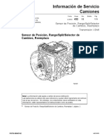 Sensor de Posición, Rango/Split/Selector de Cambios, Reemplazo