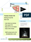 AGM and Pizza Party Flyer