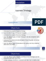 9 Corporate Strategy