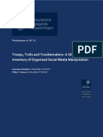 University of Oxford - Troops, Trolls and Troublemakers_ A Global Inventory of Organized Social  Media Manipulation.pdf